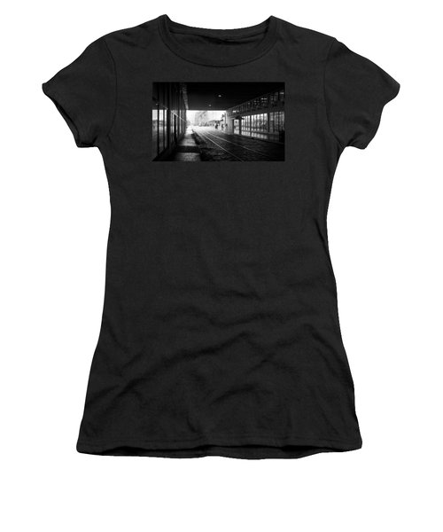 Women's T-Shirt (Junior Cut) featuring the photograph Tunnel Reflections by Lynn Palmer