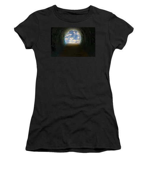 Tunnel With Light Women's T-Shirt (Junior Cut) by Melinda Fawver