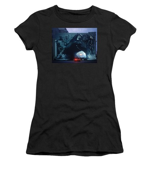 Tunnelvision Women's T-Shirt (Junior Cut) by Blue Sky
