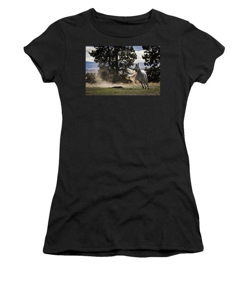 Turning On A Dime Women's T-Shirt (Athletic Fit)