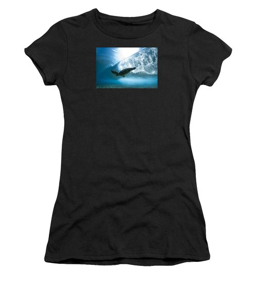 Turtle Clouds Women's T-Shirt (Athletic Fit)