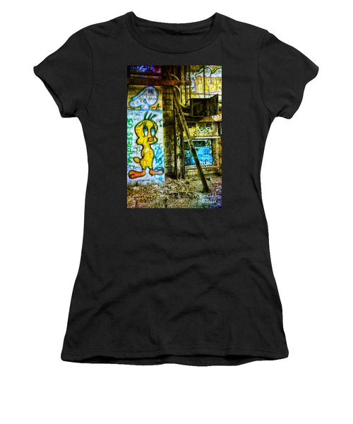 Women's T-Shirt (Junior Cut) featuring the photograph Tweety by Debra Fedchin