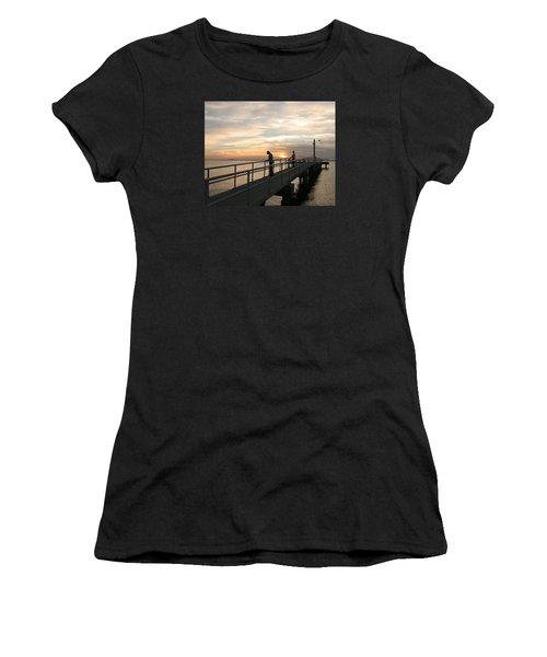 Twilight Fishing Women's T-Shirt (Athletic Fit)
