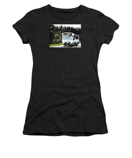 Twilight In Forks Wa 1 Women's T-Shirt (Junior Cut) by Sadie Reneau