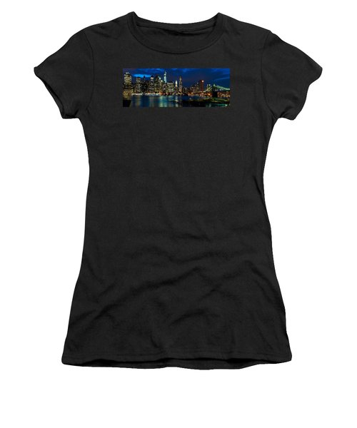 Twilight Nyc Panorama Women's T-Shirt (Athletic Fit)