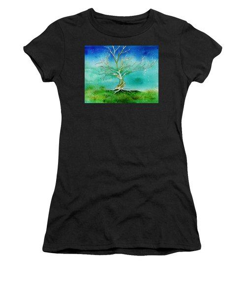Twilight Tree Women's T-Shirt (Athletic Fit)