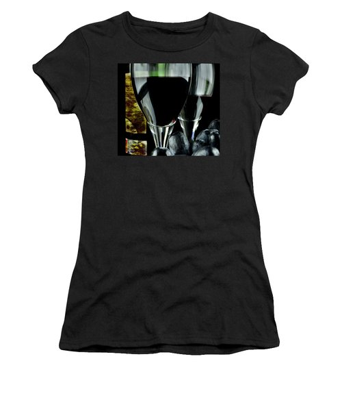 Two Glasses With Red Wine Women's T-Shirt (Athletic Fit)