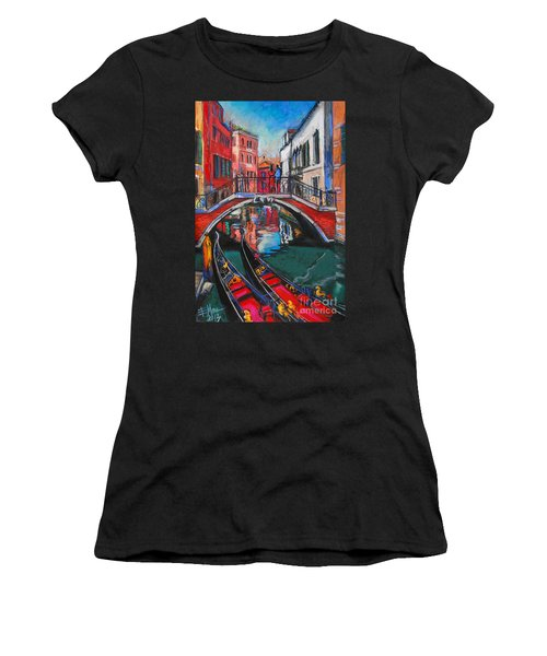 Two Gondolas In Venice Women's T-Shirt