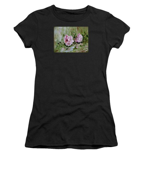 Two Roses Women's T-Shirt (Athletic Fit)