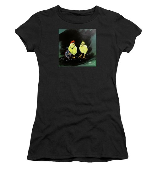 Two Smokin Hot Chicks Women's T-Shirt (Athletic Fit)