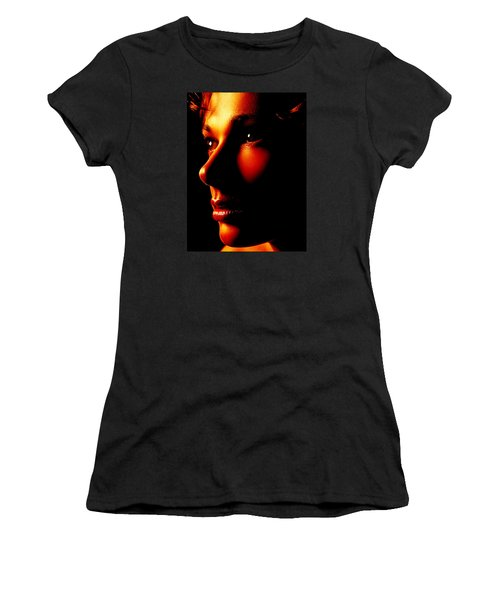 Two Tone Portrait Women's T-Shirt (Athletic Fit)