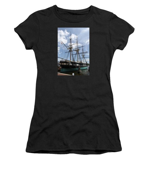 U S S  Constellation Women's T-Shirt (Athletic Fit)