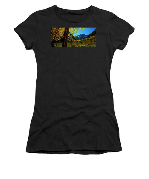 Under Golden Trees Women's T-Shirt (Athletic Fit)