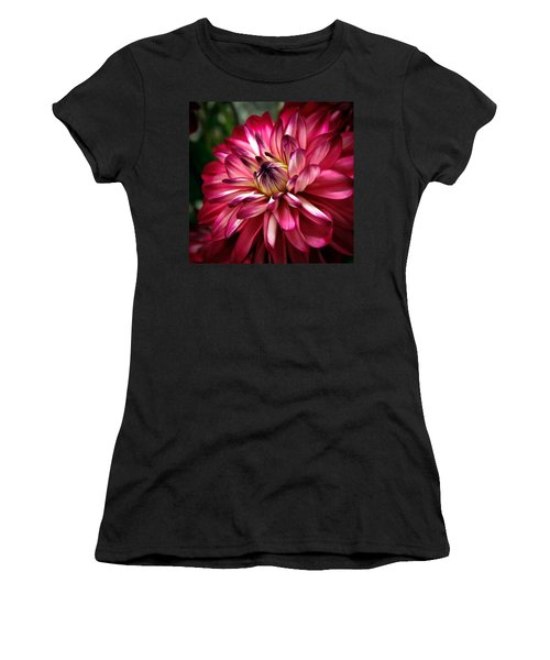 Dahlia Unfolding Women's T-Shirt (Athletic Fit)
