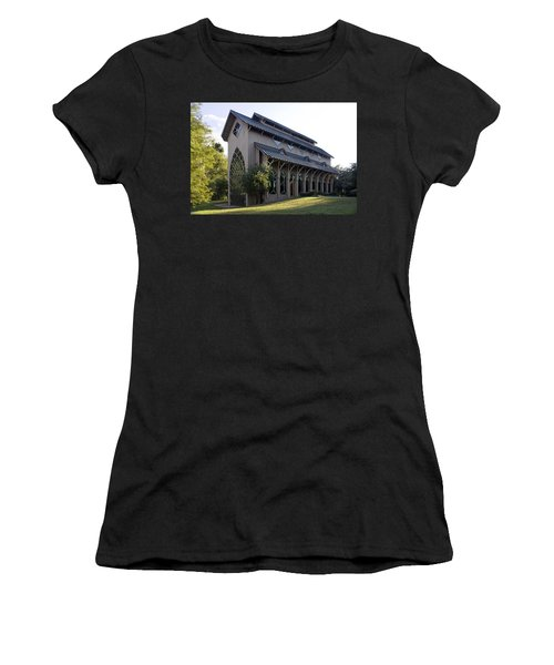 Women's T-Shirt (Junior Cut) featuring the photograph University Of Florida Chapel On Lake Alice by Lynn Palmer