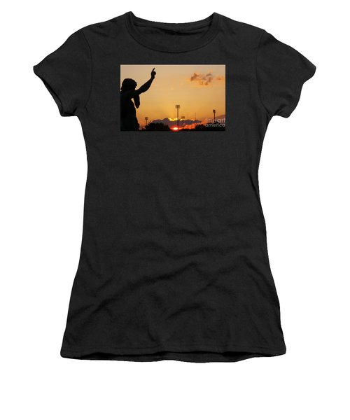 Cemetery Sunset Women's T-Shirt (Athletic Fit)