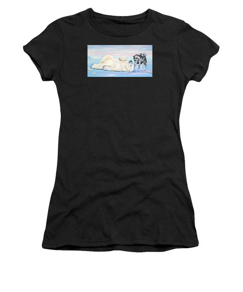 Unusual Buddies  Must Open Women's T-Shirt (Athletic Fit)
