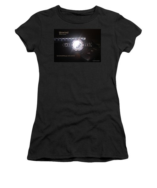 Women's T-Shirt featuring the photograph Unwind - Let Go by Peter Hutchinson