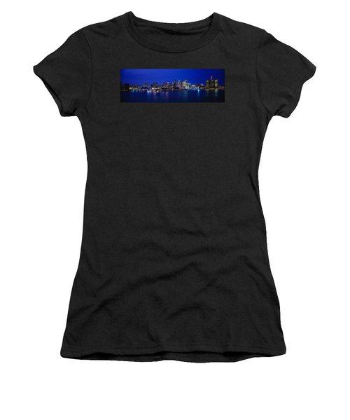 Usa, Michigan, Detroit, Night Women's T-Shirt (Athletic Fit)