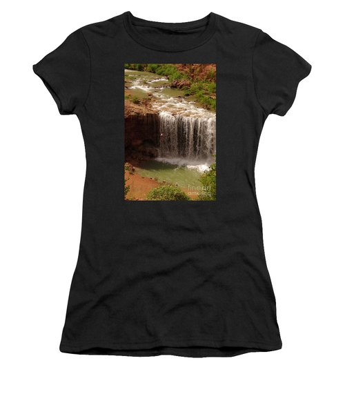 Vacation At Lower Navajo Falls Women's T-Shirt (Athletic Fit)