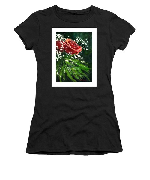 Valentine Rose Women's T-Shirt (Athletic Fit)