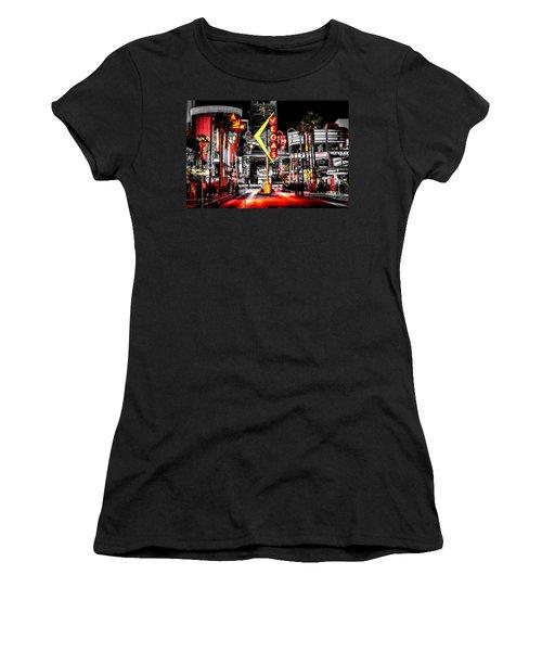 Vegas Nights Women's T-Shirt (Junior Cut) by Az Jackson