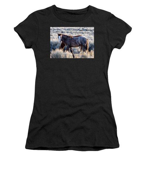 Velvet - Young Colt In Sand Wash Basin Women's T-Shirt