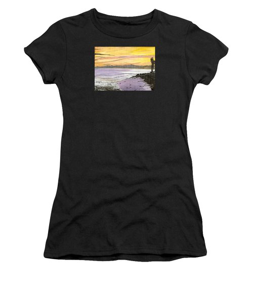 Ventura Point At Sunset Women's T-Shirt (Athletic Fit)