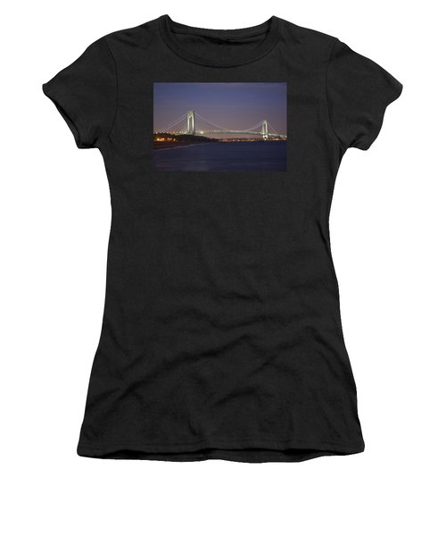 Verrazano Narrows Bridge At Night Women's T-Shirt