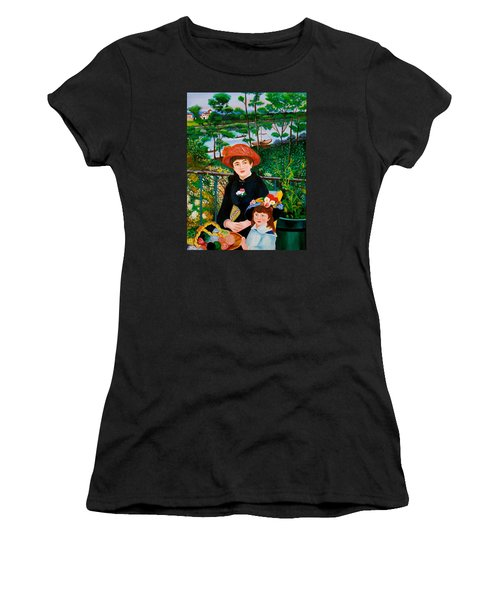 Version Of Renoir's Two Sisters On The Terrace Women's T-Shirt (Junior Cut) by Cyril Maza