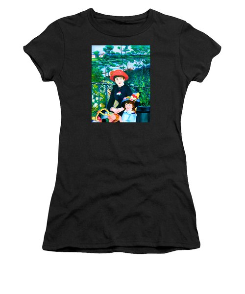 Version Of Renoir's Two Sisters On The Terrace Women's T-Shirt (Athletic Fit)