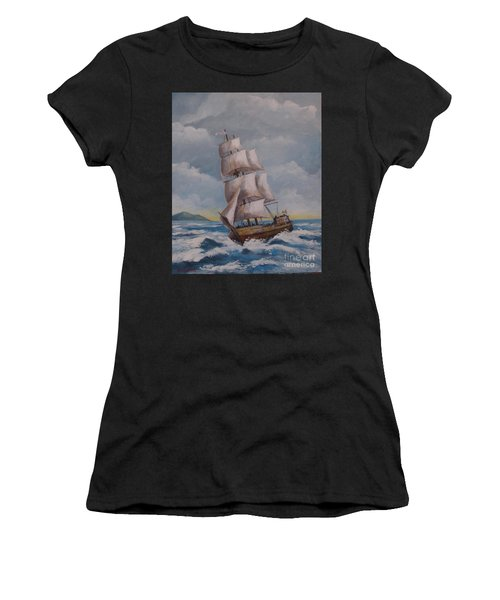 Vessel In The Sea Women's T-Shirt (Athletic Fit)