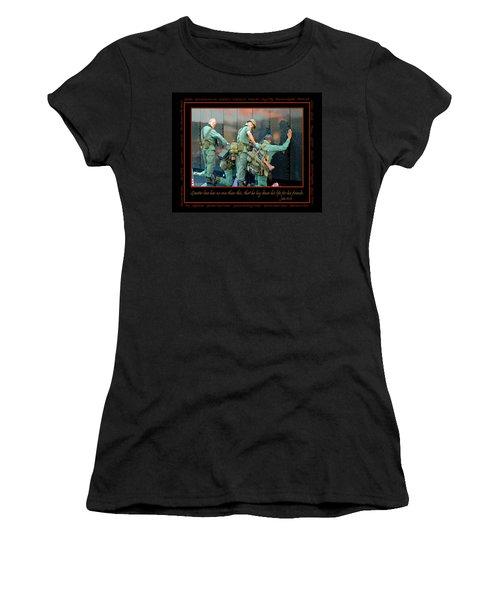 Veterans At Vietnam Wall Women's T-Shirt (Junior Cut) by Carolyn Marshall