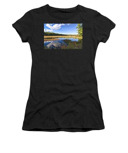 Vibrant Fall Scene Women's T-Shirt (Athletic Fit)