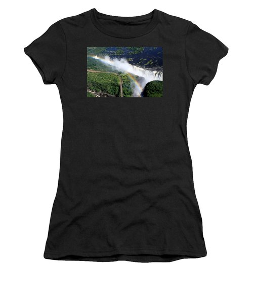 Rainbow Over Victoria Falls  Women's T-Shirt (Athletic Fit)