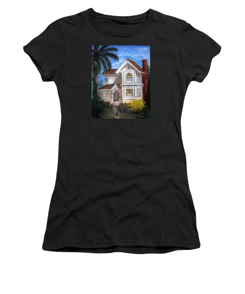 Victorian House Women's T-Shirt (Junior Cut) by LaVonne Hand