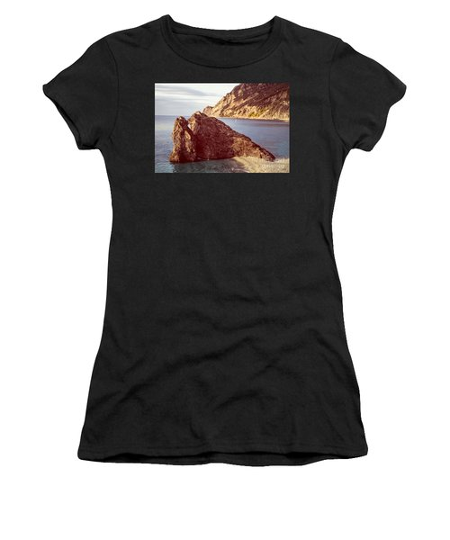 View From Beach Of Monterosso Women's T-Shirt