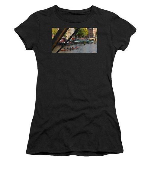 'skinny Bridge' Amsterdam Women's T-Shirt (Junior Cut) by Cheryl Miller