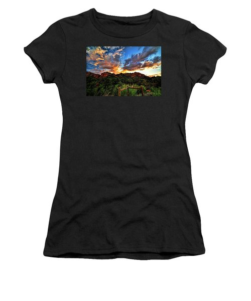 View From The Fence  Women's T-Shirt (Athletic Fit)