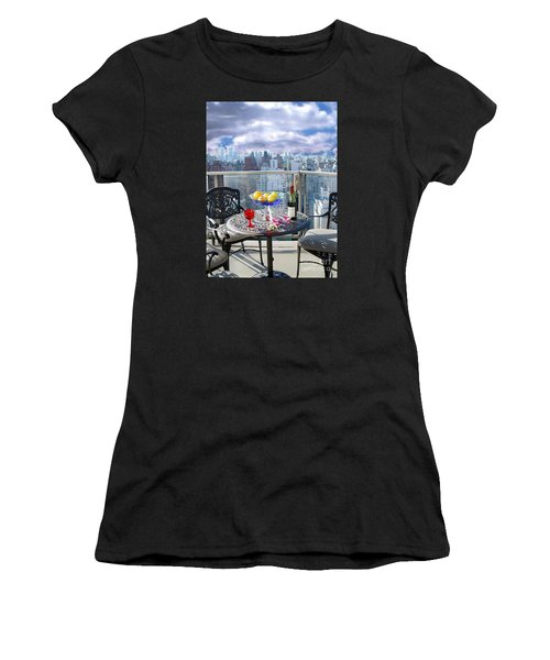 View From The Terrace Women's T-Shirt (Athletic Fit)