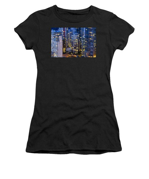 View Towards Coal Harbor Vancouver Mdxxvii  Women's T-Shirt (Junior Cut) by Amyn Nasser