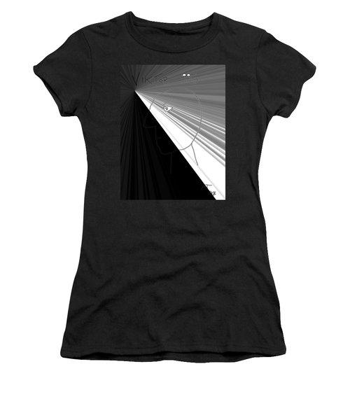 Women's T-Shirt (Junior Cut) featuring the photograph Viktor Rogy 1995 by Sir Josef - Social Critic - ART