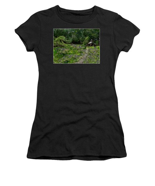 Women's T-Shirt featuring the photograph A Lupine Tale  Vincents View by Wayne King