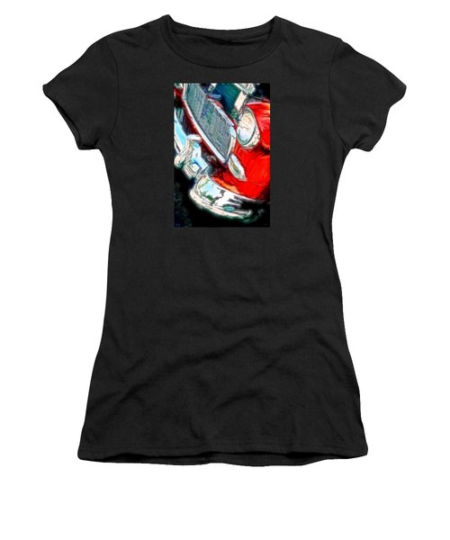 Vintage Chevy Art Alley Cat 3 Red Women's T-Shirt