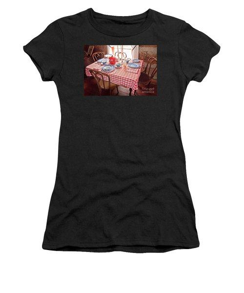 Vintage Kitchen Table Art Prints Women's T-Shirt (Athletic Fit)
