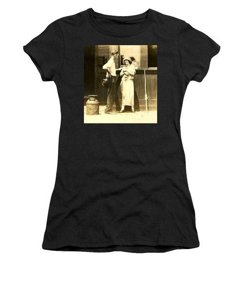 Women's T-Shirt (Junior Cut) featuring the photograph New Orleans Vintage Love In Memory Of My Deceased Grandfather From Ireland I Never New by Michael Hoard