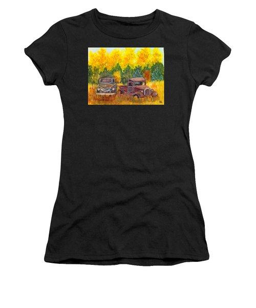Vintage Trucks Women's T-Shirt (Athletic Fit)