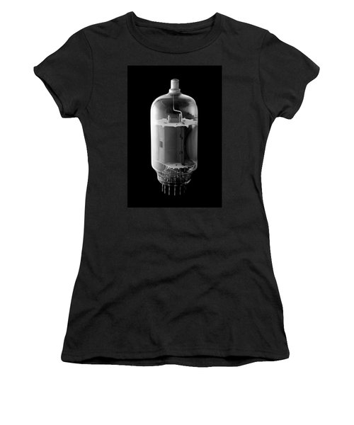 Women's T-Shirt (Junior Cut) featuring the photograph Vintage Vacuum Tube by Jim Hughes