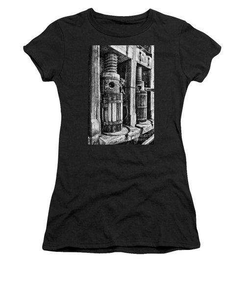 Vintage Wine Press Bw Women's T-Shirt