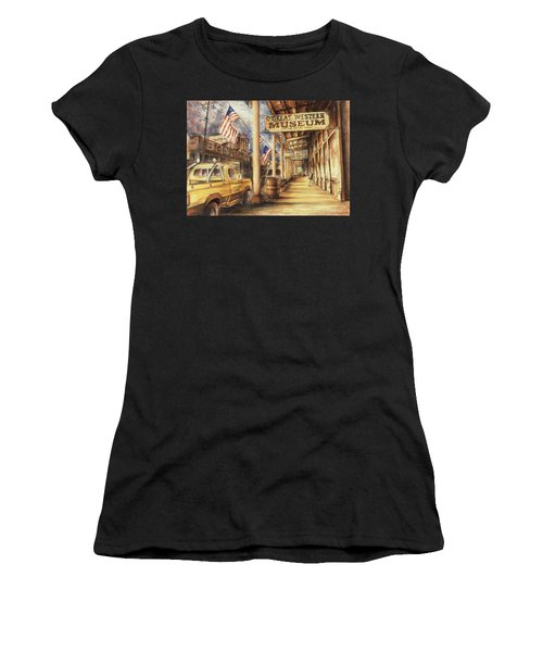 Virginia City Nevada - Western Art Painting Women's T-Shirt